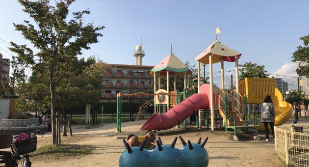 遊具で!ボールで!砂場で!自由に遊べる『三筑公園』